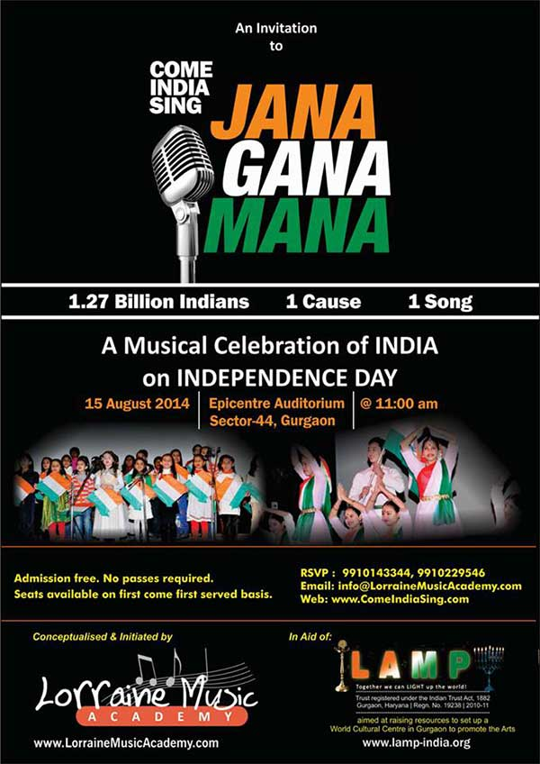 A Musical celebration of INDIA on Independence Day 15 august 2014