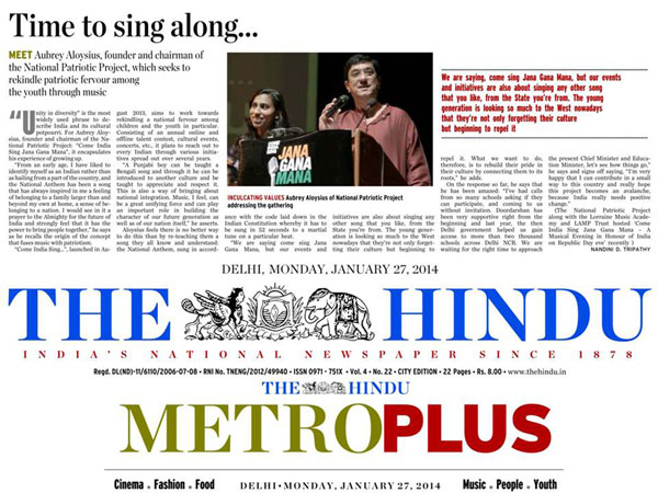 TIME TO SING ALONG - Come India Sing