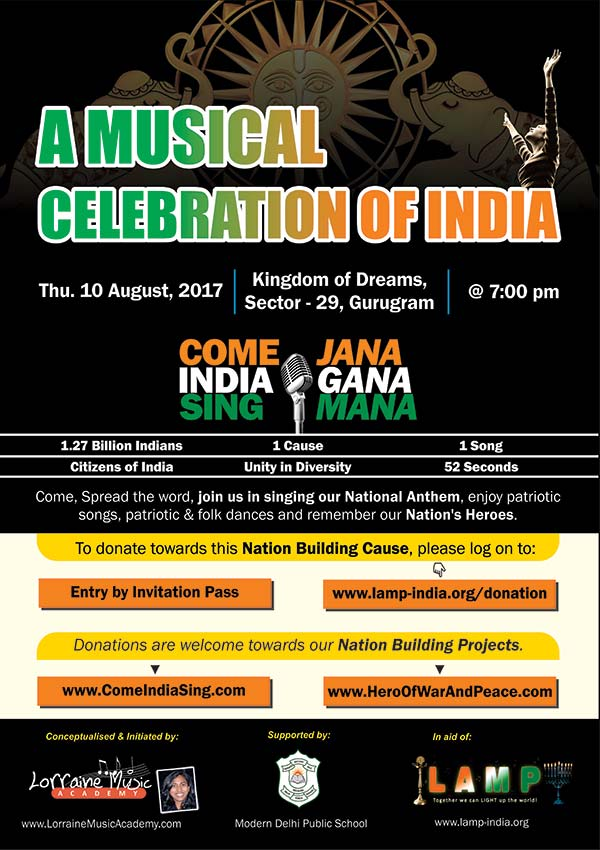 A Musical celebration of India 10 Aug 2017