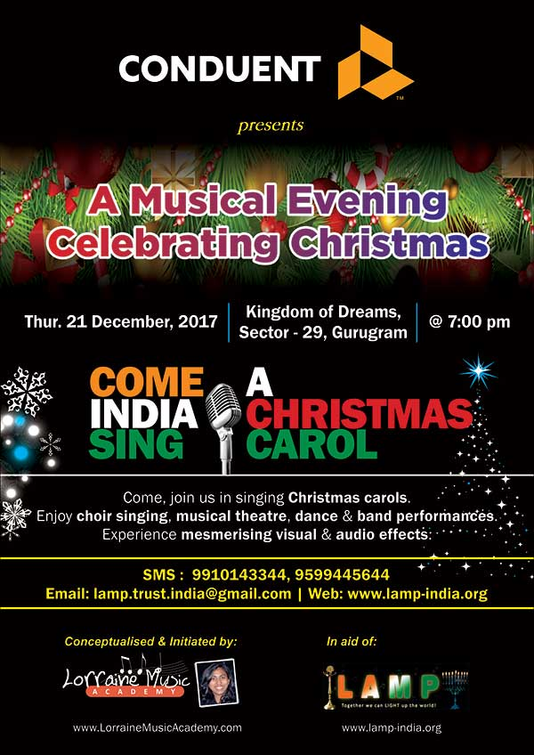 Come India Sing A Christmas Carol 21 Dec 2017