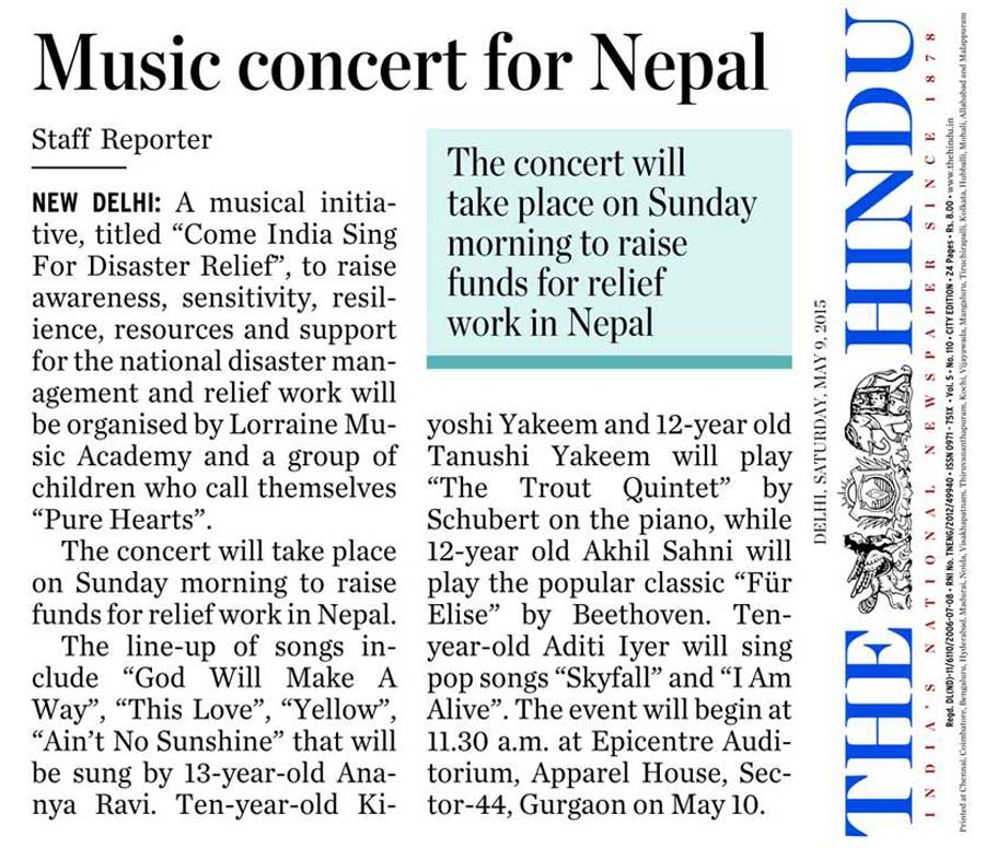 Print Media - Come India Sing