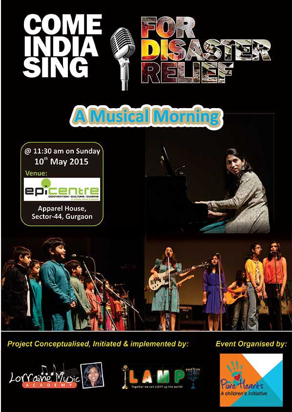 Come India Sing for Disaster Relief A Musical Morning