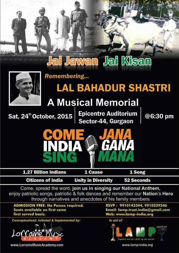 Jai Jawan Jai Kisan Remembering Lal Bahadur Shastri