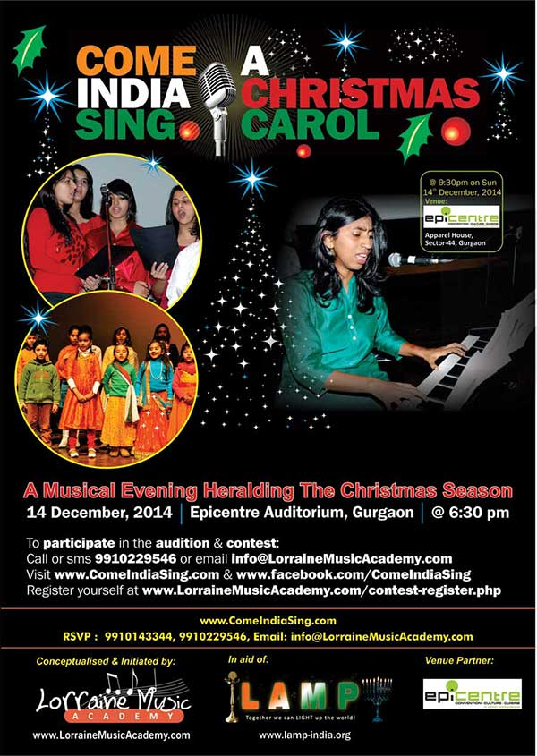 Come India Sing A Christmas Carol 14 December 2014